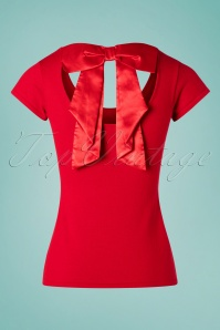 Bunny 28875 Celine Bow Top in Red 20190225 003W