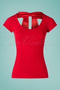 50s Celine Top in Lipstick Red