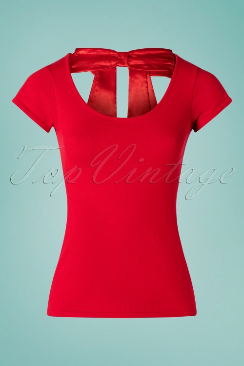 Bunny 28875 Celine Bow Top in Red 20190225 001W
