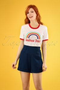 50s Cute As A Button Shorts in Navy