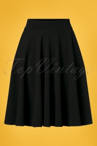 Vintage Chic 28734 Swing Skirt in Black 20190117 001W