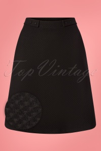 60s Toppie Girl Skirt in Black