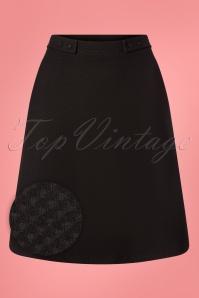 Toppie Girl Skirt Années 60 en Noir