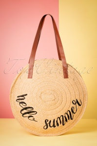 Hello Summer Wicker Bag Années 50 en Brun