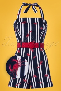 Collectif Clothing 27432 Jojo Crabs and Stripes Playsuit 20180816 001Z