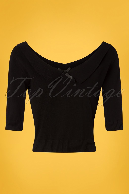 85e8423e4f 50s Babette Jumper in Black
