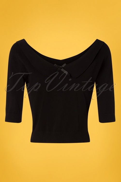 Collectif Clothing 27441 Babette Jumper in Black 20180813 003W