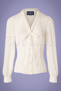 40s Luiza Blouse in Ivory