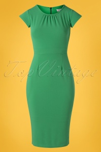 50s Candace Pencil Dress in Green
