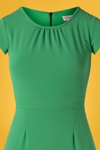 Vintage Chic 28745 50s Candance Green Dress 20190222 003V