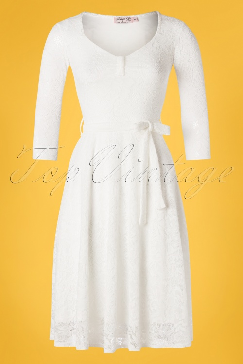 Vintage Chic 28780 Lace Ivory White Dress 20190226 002W