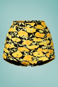 Unique Vintage 28583 28584 Yellow Floral Bikini 20190227 003W