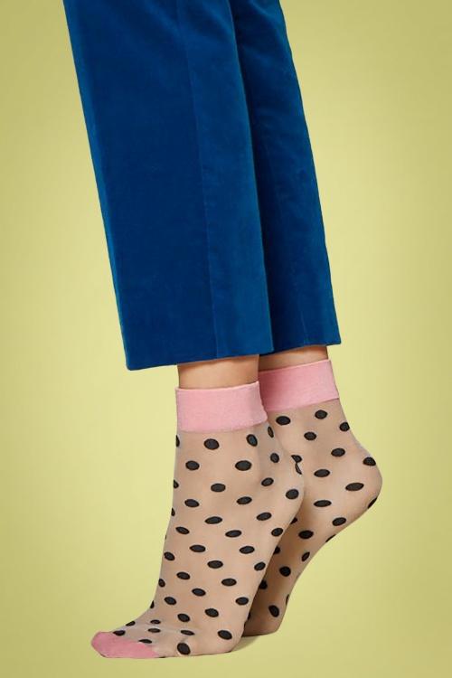 Fiorella 29323 Socks Polkadot Pink Black 20190220 001
