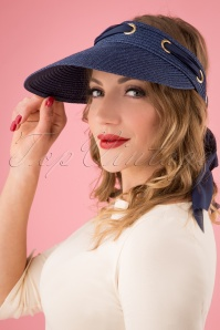 50s Alma Sun Visor in Navy
