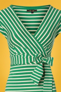 King Louie 27173 Peapod Green Lot Maxi Dress Breton Stripe 20181123 002V