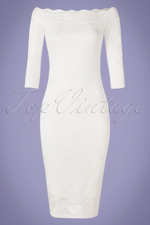 Vintage Chic 28782 Lace Ivory White Dress 20190226 002W