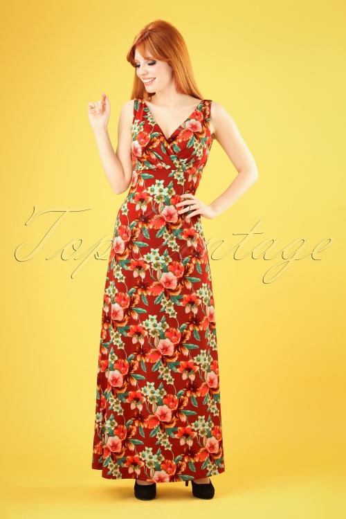 King Louie 27189 Ginger Maxi Dress Magnolia 20181119 009W