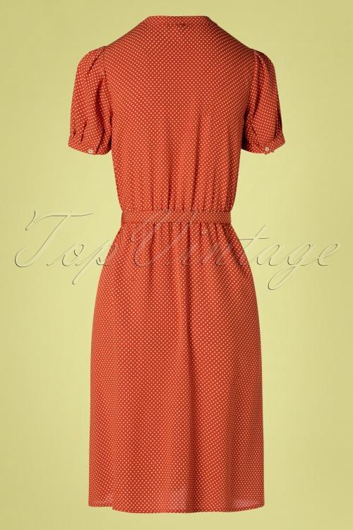 60s gaya minime dress in clay red