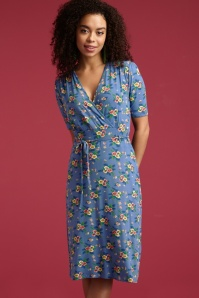 King Louie 27184 Cecil Dress Goldrush in Moonlight Blue  20190115 01