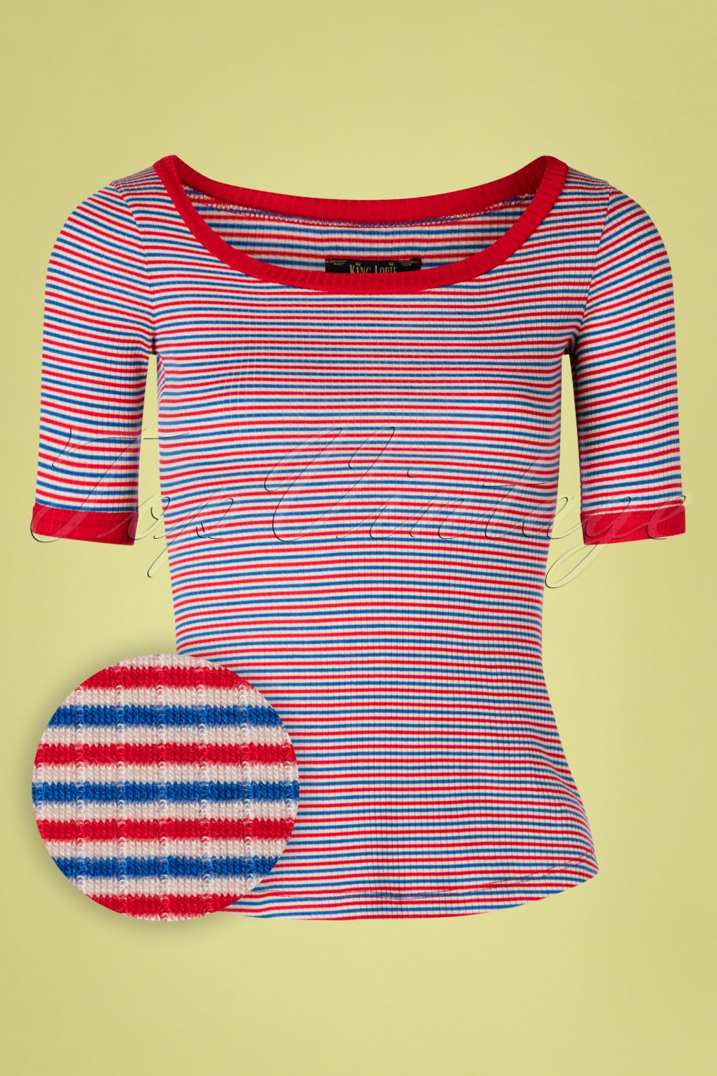 1960s Style Dresses, Clothing, Shoes UK 60s Carice Barber Stripes Top in Red £42.91 AT vintagedancer.com