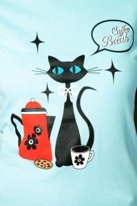 Vixen 28344 50s Coffee Break Cat Top 3