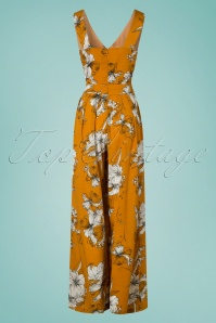 Vixen 28368 40s Eden Orange Floral Jumpsuit 20190304 009W