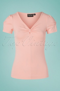 50s Savannah Bow Top in Pink