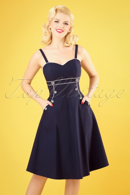 Vixen 28302 Blue Sailor Dress 1W