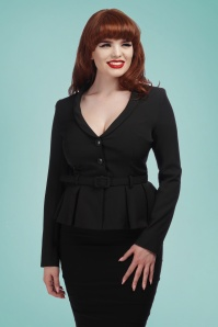 Collectif Clothing 27457 Alana Plain Suit Jacket in Black 20180816 01jpg