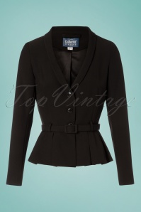 40s Alana Suit Jacket in Black