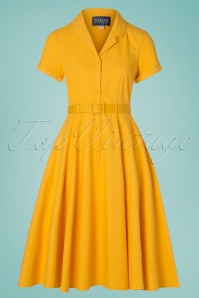 50s Caterina Swing Dress in Mustard Yellow