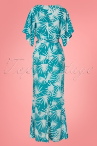 Collectif Clothing 28605 Kelly Palm Print Maxi Dress 20190304 007W