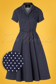 Collectif Clothing 28608 Caterina Polkadot Swing Dress 20190305 005W1