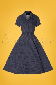 Collectif Clothing 28608 Caterina Polkadot Swing Dress 20190305 002W