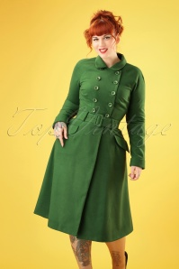 Collectif Clothing 27458 Addy Coat in Green 20180816 006W