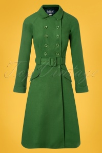 Collectif Clothing 27458 Addy Coat in Green 20180816 001W