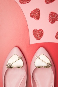 60s The Cupid Flats in Light Pink