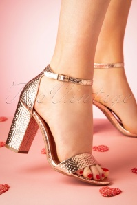 60s The Goldie Sandals in Rose Gold