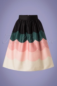 Vixen 28321 Sofia Scale Multicolored Swing Skirt 20190304 002W