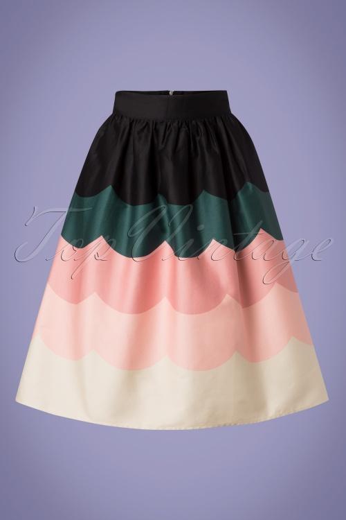 Vixen 28321 Sofia Scale Multicolored Swing Skirt 20190304 002W