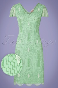 GatsbyLady 20s Downton Abbey Flapper Dress in Mint