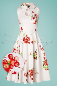 Hearts and Roses 28908 White Strawberry Swing Dress  20190305 006W1