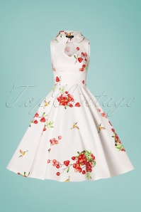 Hearts and Roses 28908 White Strawberry Swing Dress  20190305 002W