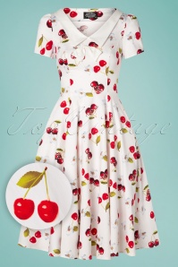 Hearts and Roses 28914 White Cherry Swing Dress 20190305 009W1