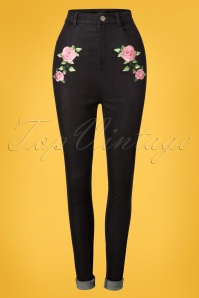 Collectif Clothing 24871 50s Becca Rose Jeans 20180627 004W