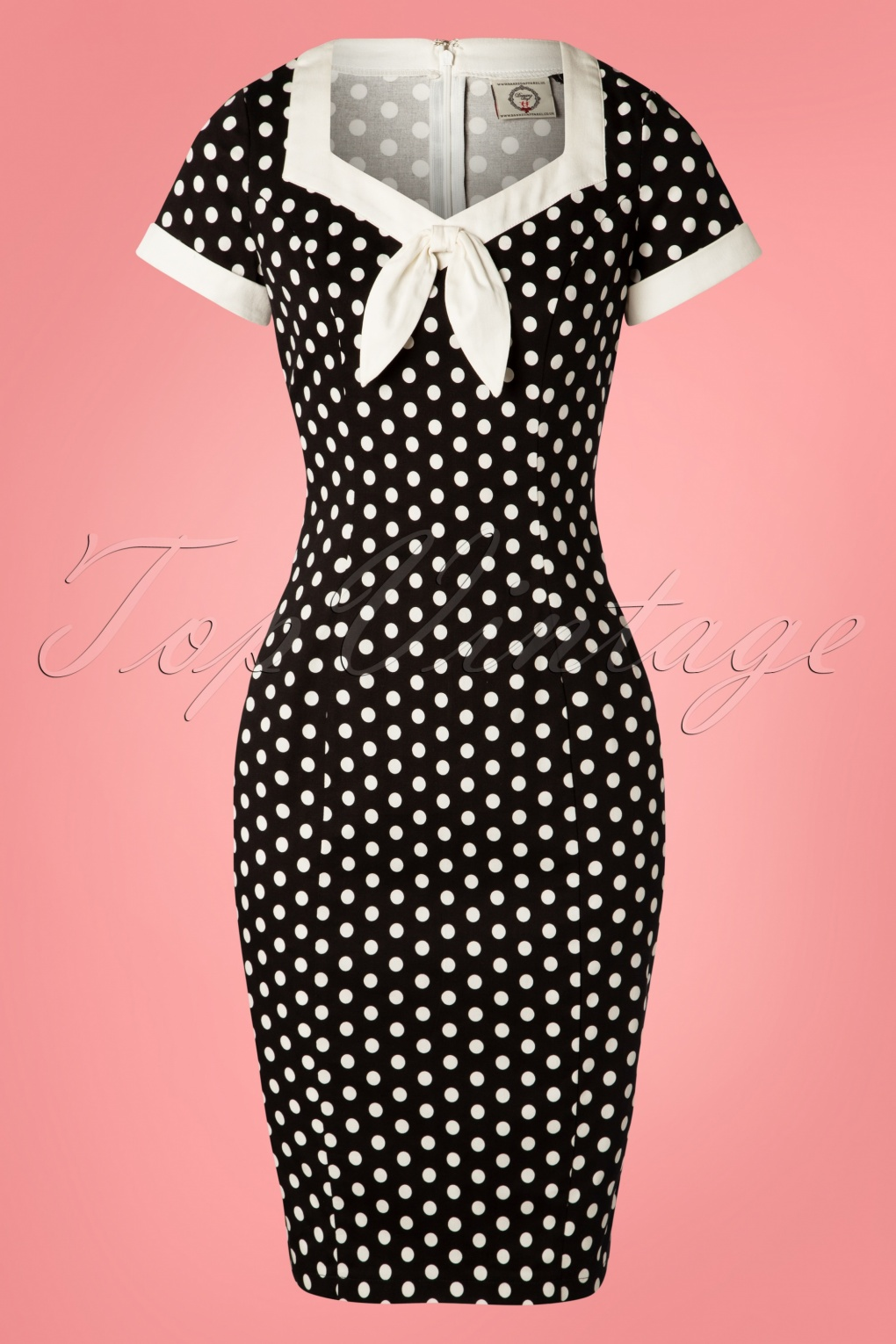 What Did Women Wear in the 1950s? 1950s Fashion Guide 50s Polka Love Wiggle Dress in Black £36.04 AT vintagedancer.com