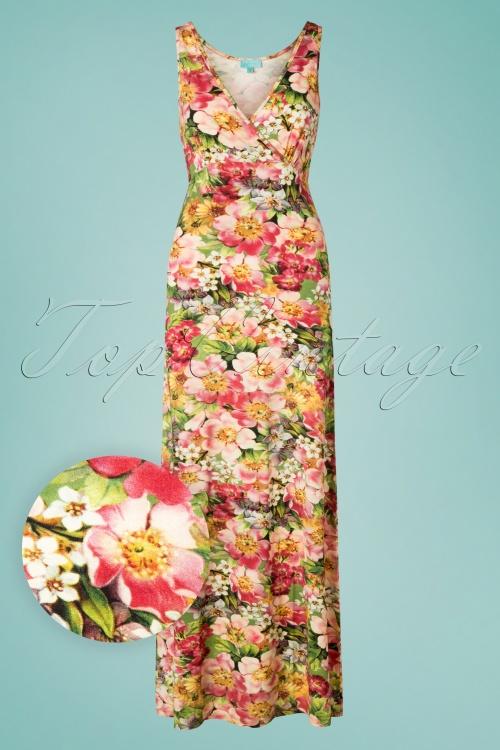 76459059a8 LaLamour 26829 Green Pink Singlet Maxi Dress 20190307 001W1