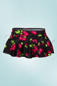 Belsira 50s Bella Cherry Bikini Pants in Black