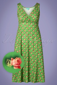 LaLamour 26831 Singlet Dress Green Roses 20190307 001W1