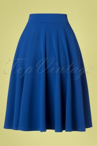 Vintage Chic 29341 Royal Blue Swing Skirt 20190307 003W